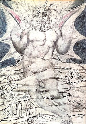 Lucifer, by William Blake, for Dante's Inferno...