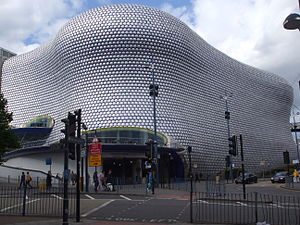 Bull Ring shopping centre in Birmingham, easte...