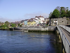 English: View of Cardigan from across the Rive...
