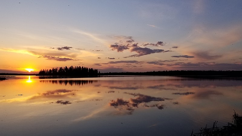 File:Elk Island National Park Sunset.jpg