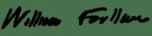 English: William Faulkner's signature