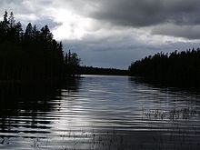 Ausblick in der Nähe der Jussinkämppä-Hütte