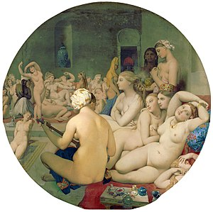 The Turkish Bath (1862) by Jean-Auguste-Domini...