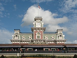 The train station for Main Street, U.S.A. at t...