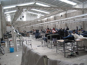 A maquiladora-factory in Mexico