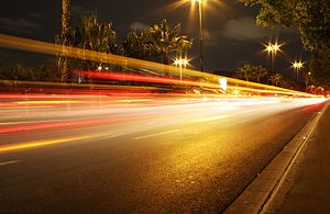 English: Night Street Lights by Photos8.com