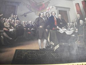 English: Picture of the painting during the si...