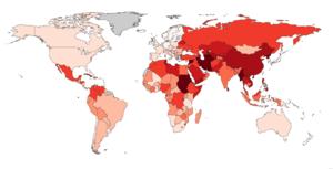 English: World Press Freedom Index 2010 (Repor...