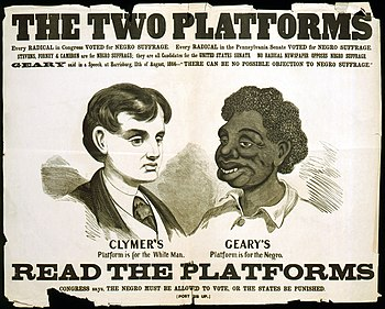 Opposition poster for the 1866 election. Geary...