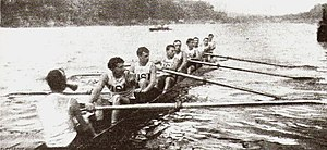 Men's eight rowing team at the 1900 Olympic Ga...
