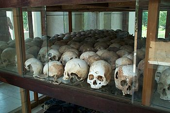 Skulls from Choeung Ek in Cambodia