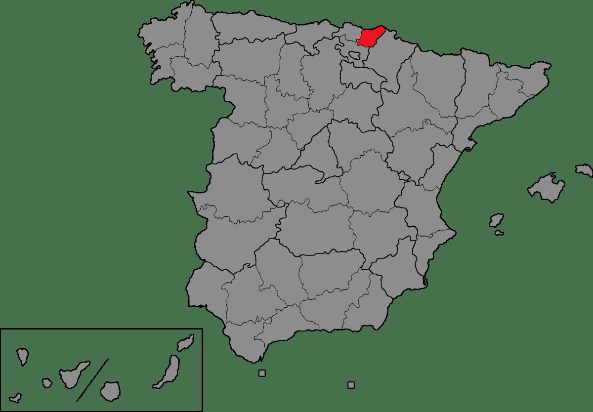 Basque Region Map