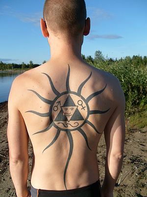 English: Back Tattoo