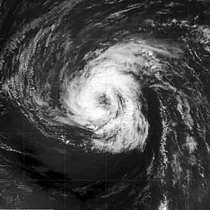 This image of Tropical Storm Isaac was capture...