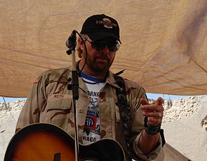 Toby Keith plays an acoustic set for the Soldi...