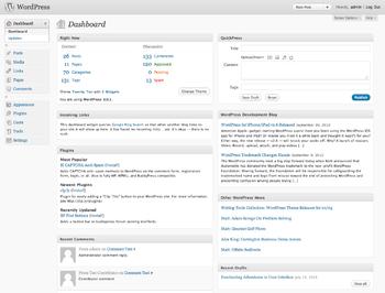 WordPress dashboard interface