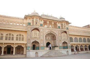English: Amber Fort, Jaipur, India Español: Fu...