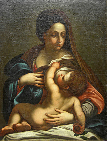 File:Annibale Carracci Virgin Mary with child.jpg