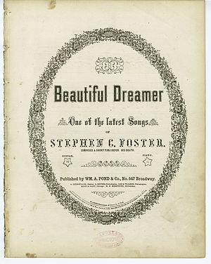 """Beautiful Dreamer"" (sheet music) Pa..."