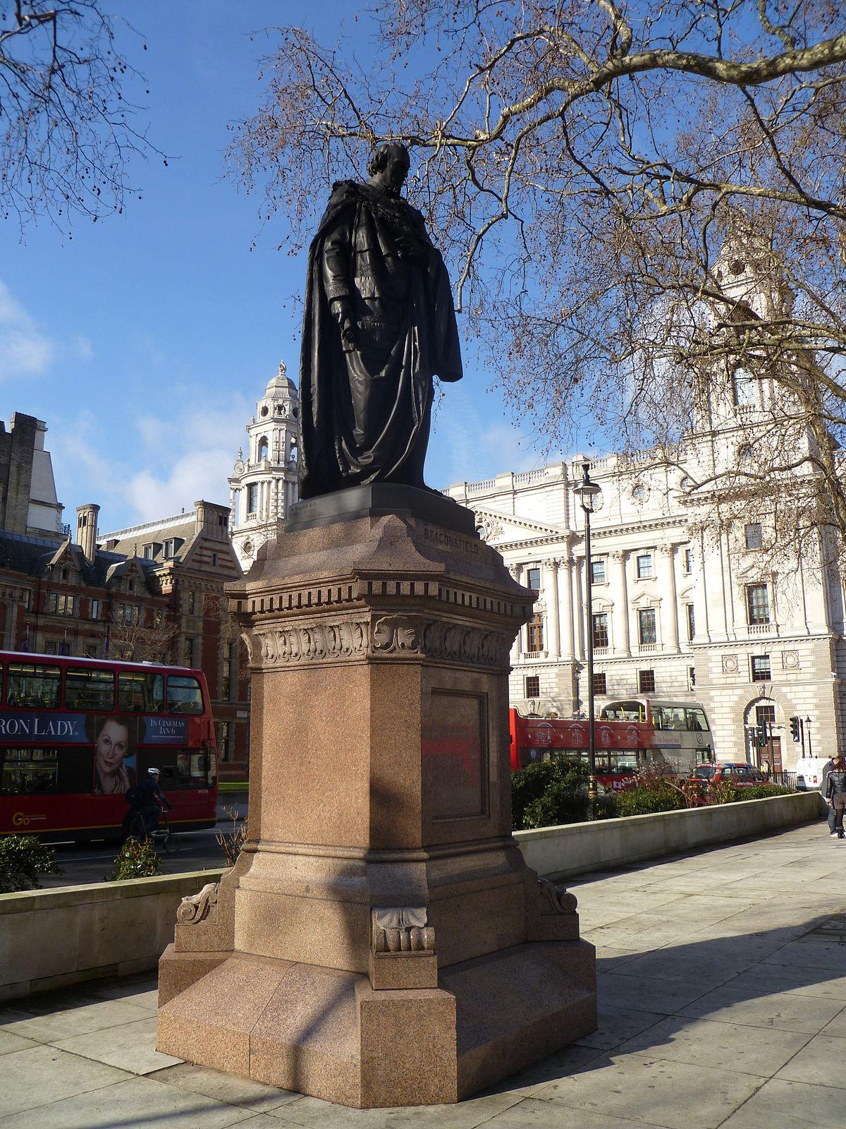 Statue of Benjamin Disraeli Parliament Square  Wikipedia