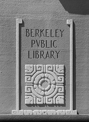 photo of exterior corner pylon of Berkeley Pub...