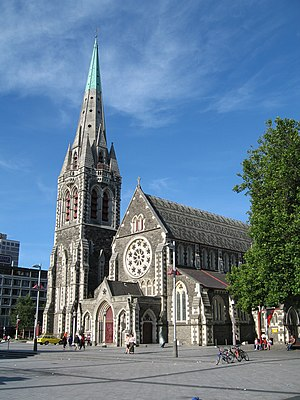Christ Church, Cathedral Square, Christchurch.