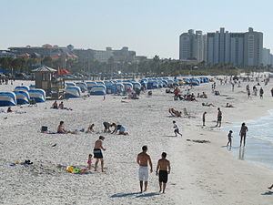 Clearwater Beach, looking south from Pier 60.
