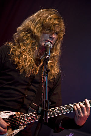Dave Mustaine from the heavy/power metal band ...