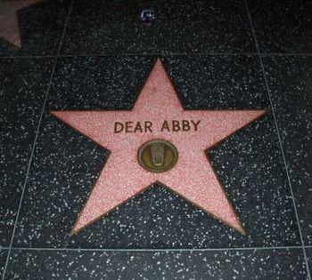 English: Dear Abby star on the Hollywood Walk ...