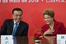 May 2015, Li meets the then Brazilian president Dilma Rousseff.