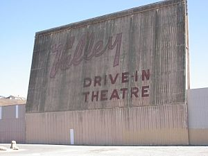 English: An old drive-in movie theater in Cali...