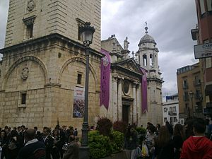 Español: La Iglesia de San Ildefonso de Jaén d...