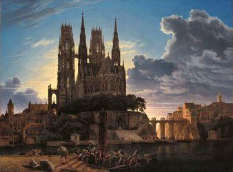File:Karl Friedrich Schinkel Medieval Town by Water WGA21002 jpg Wikimedia Commons