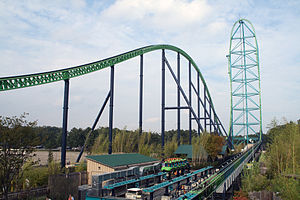 Kingda Ka, the world's tallest roller coaster....