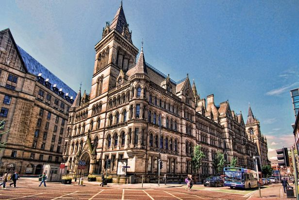 Manchester Town Hall NE and S facade