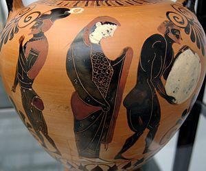 Nekyia: rancorous Ajax, Persephone supervising...