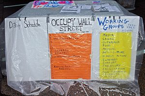 English: Day 7 of the protest Occupy Wall Stre...