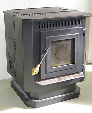 A pellet stove. The burn pot from this stove i...