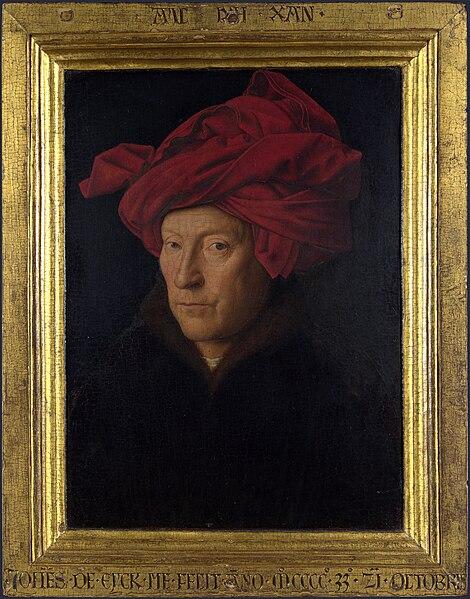 File:Portrait of a Man in a Turban (Jan van Eyck) with frame.jpg