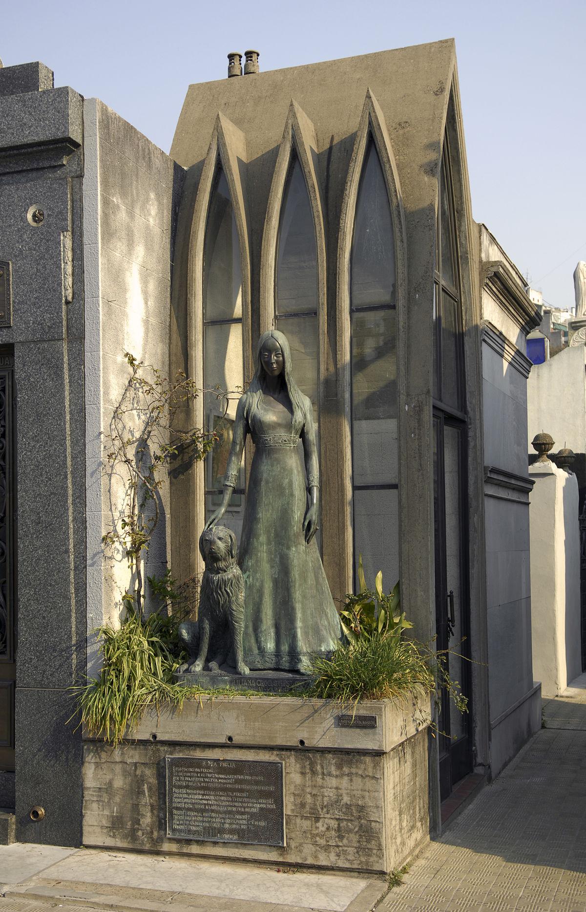 Tomb of Liliana Crociati de Szaszak  Wikipedia