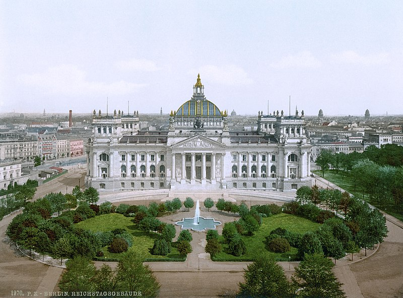 The Reichstag in the 1890s / early 1900s.