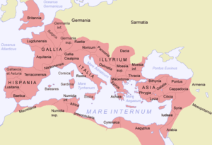 The Roman Empire at its greatest extent under ...