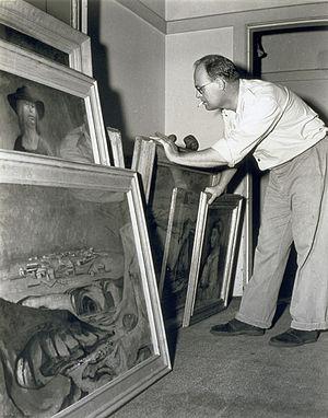 English: Photograph of Australian painter Russ...