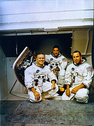 The Apollo 8 Crew (L to R) Frank Borman, comma...