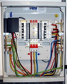 distribution board wiring diagram spotlight ford ranger the phase fuse box 3 detaileddistribution wikipedia fusible disconnect