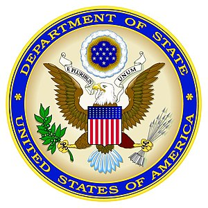 Seal of the United States Department of State.