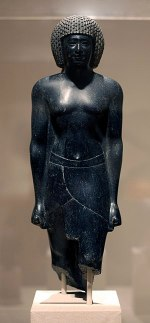 WLA brooklynmuseum Statue of a Priest of Amun ...