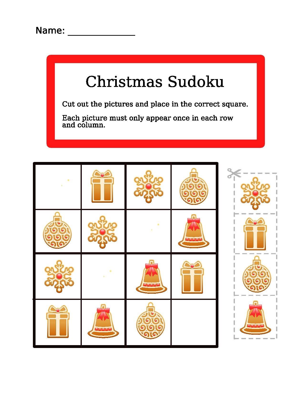 File 4x4 Christmas Easy Sudoku Worksheet For Christmas