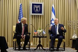 Rivlin with U.S. President Donald Trump, 22 May 2017