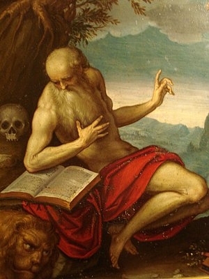 English: The Francesco St Jerome by Palma il G...